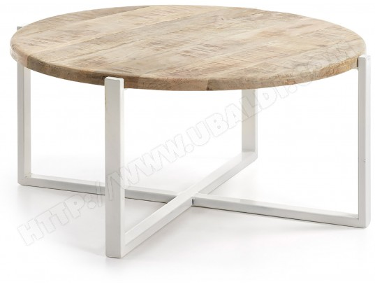 lf table basse iznewam table basse blanc et bois