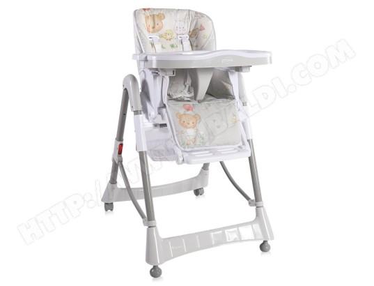 lorelli chaise haute reglable evolutive pour bebe primo blanc ma 43ca318chai 4ipsa
