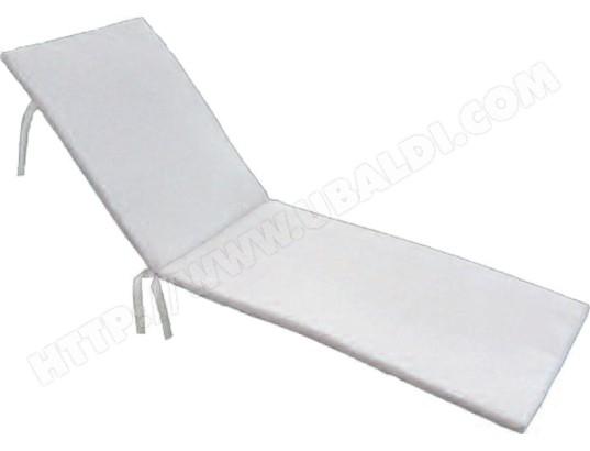 pegane coussin pour bain de soleil dehoussables coloris blanc dim 190 x 58 x 3 8cm pegane ma 82ca185cous sauu7