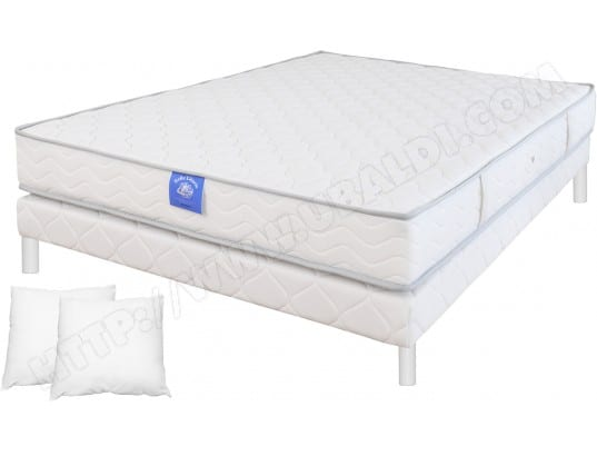 plein sommeil ensemble matelas sommier 140 x 190 lit freedom 140x190 pied blanc