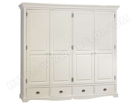 beaux meubles pas chers grande armoire penderie blanche de style anglais 40204