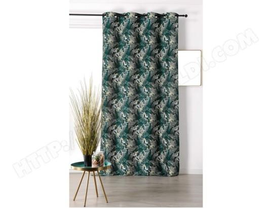 linder rideau ambiance tropicale motif toucan 1925 4485