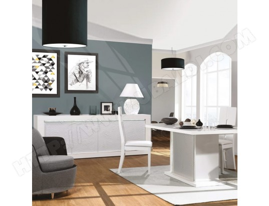 nouvomeuble salle a manger blanche laquee design karl ma 82ca492sall cji5k