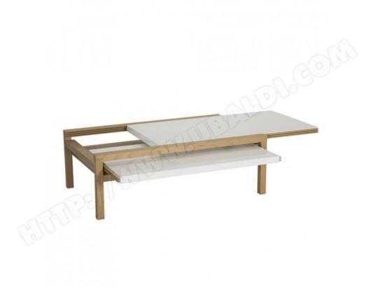 beaux meubles pas chers table basse extensible chene blanc 4029