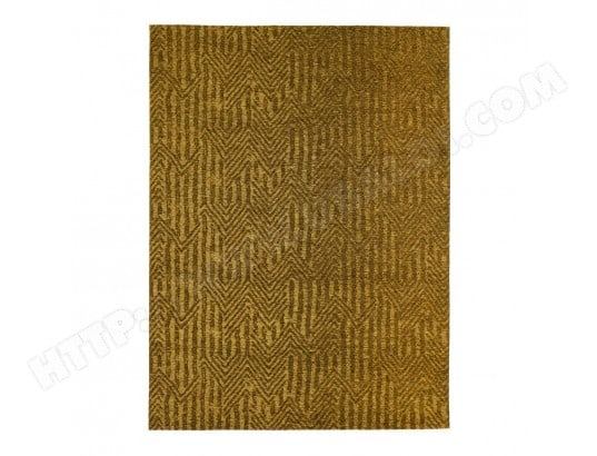 tapis jaune moutarde rectangulaire plat