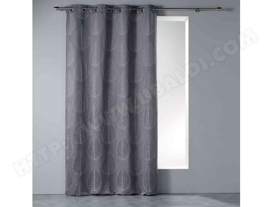 douceur d interieur rideau a oeillets mahe 140x260cm gris anthracite ma 49ca528ride bix4g
