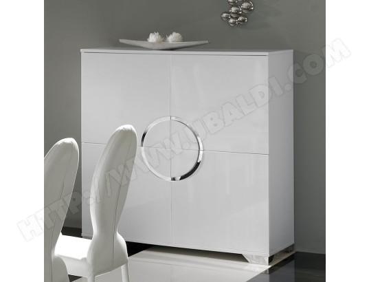 kasalinea buffet haut blanc laque 4 portes design isaac ma 91ca182buff h2amm