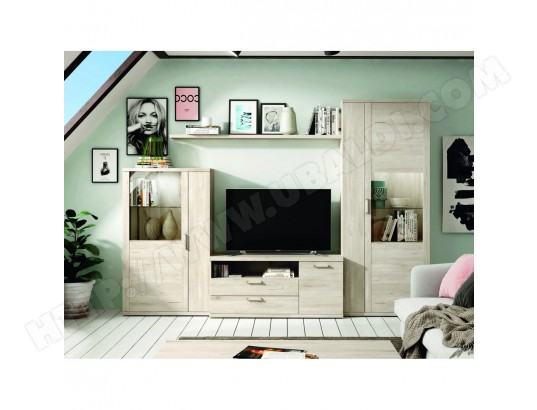 hevea ensemble bibliotheque meuble tv kronos 102 compose de 4 elements ma 22ca487ense 9fbw9