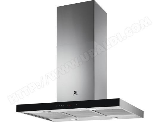 electrolux hotte decorative ilot lfi769x serie 700 inox et noir 90 cm
