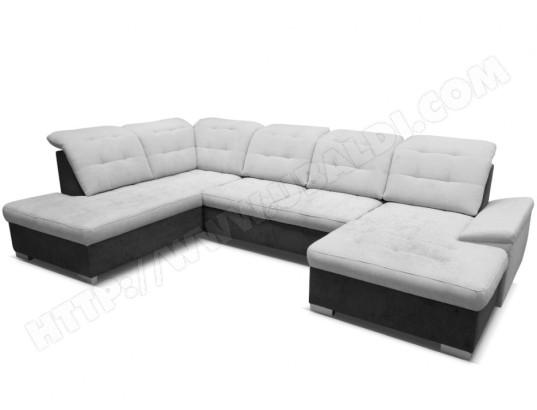 vente unique canape d angle panoramique en tissu kaurie gris clair et anthracite angle droit ma 82ca94 cana 9pevm