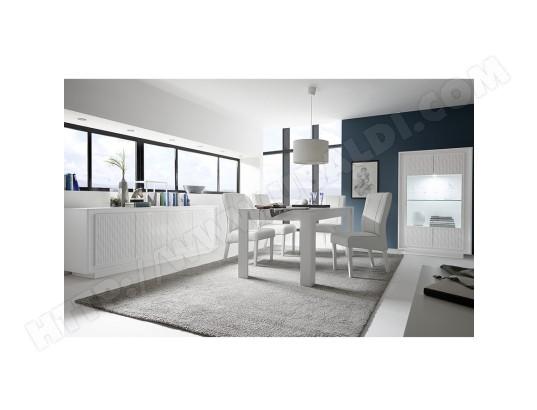 sofamobili salle a manger complete blanc laque mat et motifs rayures burton sam d 612 7
