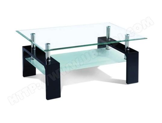 sofamobili table basse noir laque et verre design ottavia 2 tbas d 305