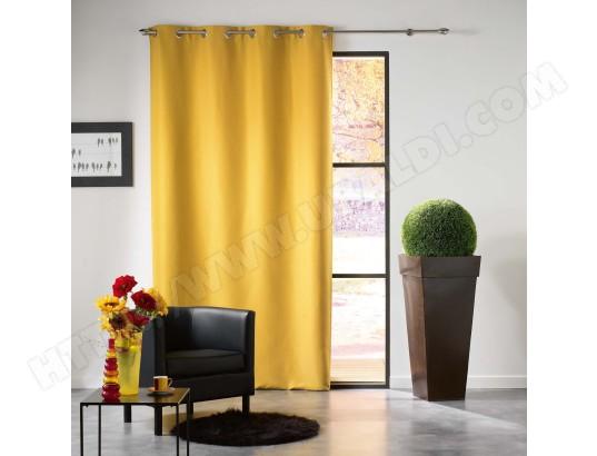 douceur d interieur rideau occultant mezzo 140x240cm jaune ma 49ca528cdaf f05ay