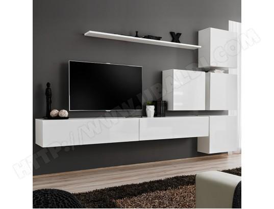 nouvomeuble meuble tv blanc suspendu design rotello 3 ma 82ca487meub ikdfo