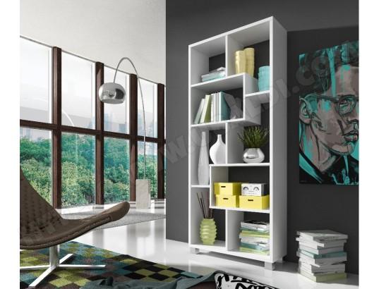 innovation etagere murale de rangement pour livres bibliotheque salon sejour contemporaine 8 compartiments separation division montage