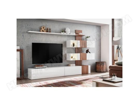 price factory meuble de salon complet meuble tv quizz composition murale moderne et design led incluses ma 76ca494meub w2rj3