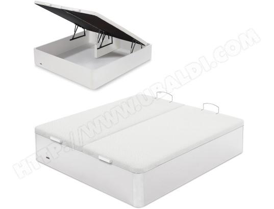 flex sommier 160 x 200 lit coffre flex 160x200cm blanc
