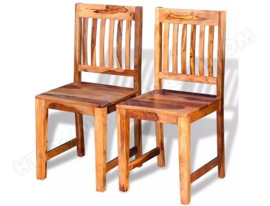 icaverne icaverne chaises de salle a manger inedit chaise de salle a manger 2 pcs bois massif de sesham icav243281