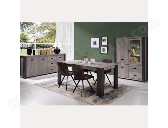kasalinea salle a manger complete contemporaine couleur bois gris melany ma 91ca492sall ut1e3