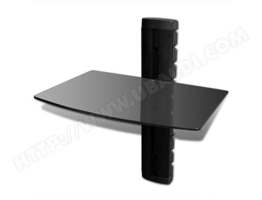 icaverne icaverne meubles tv moderne etagere murale noire 1 tablette pour dvd icav50366