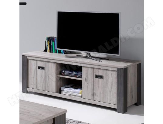 sofamobili meuble tele 150 cm contemporain couleur chene gris adrien ma 11ca487meub puyvq
