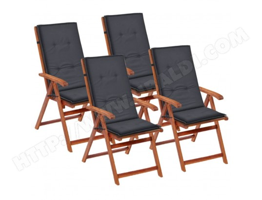 icaverne icaverne coussins pour fauteuils et canapes magnifique coussin de chaise de jardin 4 pcs anthracite 120 x 50 x 3 cm ma 15ca185icav j6apl