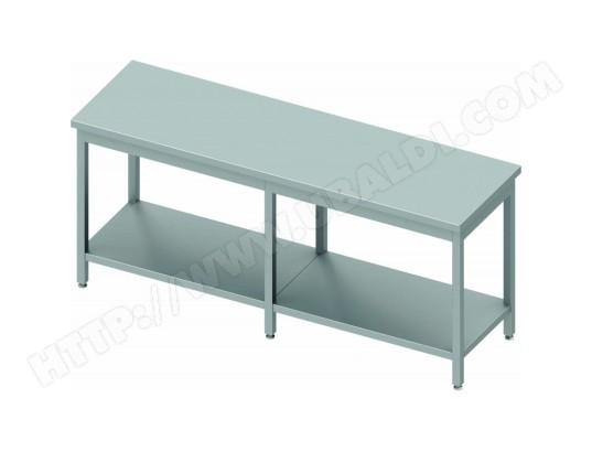 materiel chr pro table inox cuisine professionnelle avec etagere profondeur 700 stalgast 2400x700 700 30590 7216
