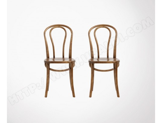 nordal lot 2 chaises design bois bistro nordal ma 11ca493lot2 12hff
