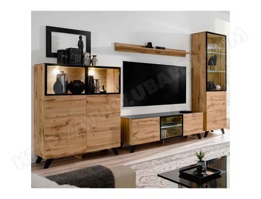 paris prix ensemble meuble tv bibliotheque thin noir naturel ma 12ca487pari thqlu