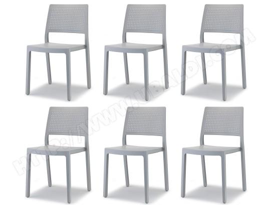 scab design chaise lot 6 chaises emi gris clair