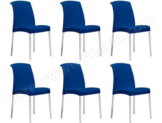 scab design chaise jenny lot de 6 chaises bleu