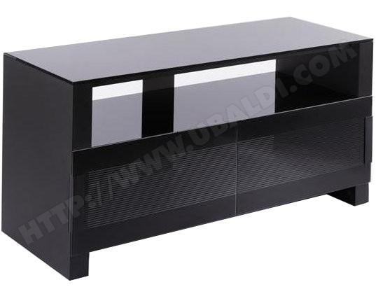 erard meuble tv bilt 1100 3 plateaux noir
