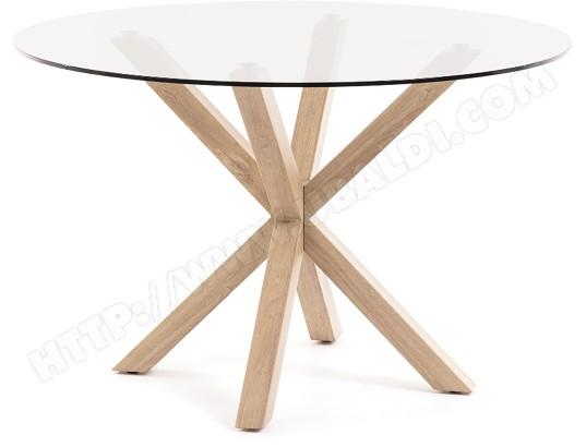 lf table de salle a manger arya table ronde pieds naturel