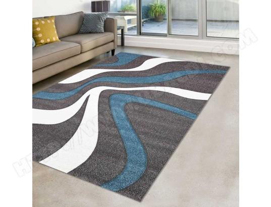 merinos tapis moderne et graphique diamond 760 bleu gris blanc 120 x 170 cm 37178