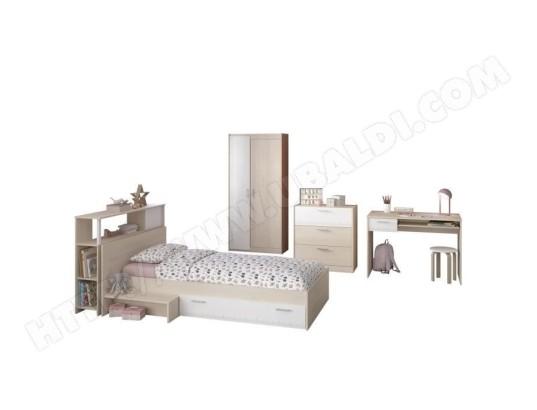 icaverne chambre a coucher complete charlemagne chambre enfant complete tete de lit lit commode armoire bureau contemporain decor