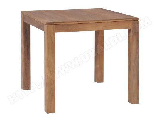 icaverne icaverne tables de cuisine moderne table a diner bois de teck et finition naturelle 82x80x76 cm ma 15ca492icav xekca
