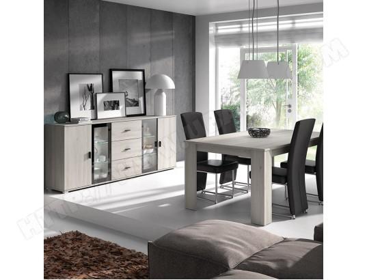 kasalinea salle a manger avec eclairage contemporaine couleur chene gris sophie ma 91ca492sall 9u2nc