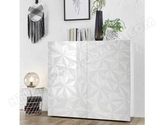 sofamobili meuble argentier design blanc laque antonio ma 11ca182meub 27yys