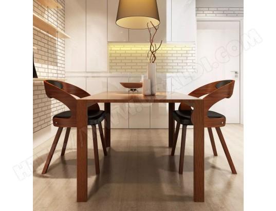 icaverne magnifique fauteuils edition sarajevo chaise de salle a manger 2 pcs cadre en bois cuir synthetique ma 78ca493magn 0fye2