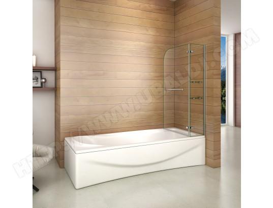 aica sanitaire aica pare baignoire 90x140cm paroi de douche pivotante a 90 degre securit avec porte serviette ma 12ca545aica 0velr