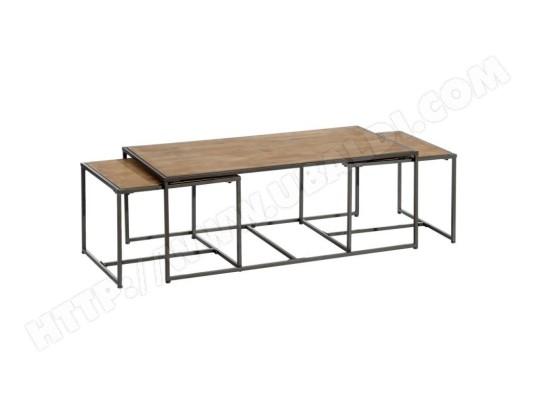 tousmesmeubles table basse gigogne bois metal cincinnati l 120 x l 60 x h 46 ma 46ca182tabl uyxxp