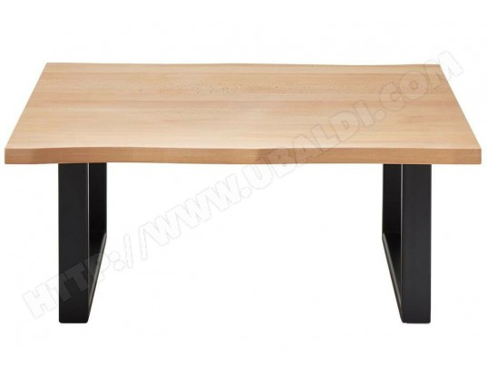 pegane table basse simple en hetre massif huile et metal l 110 x h 45 x p 70 cm pegane ma 82ca182tabl yhsot