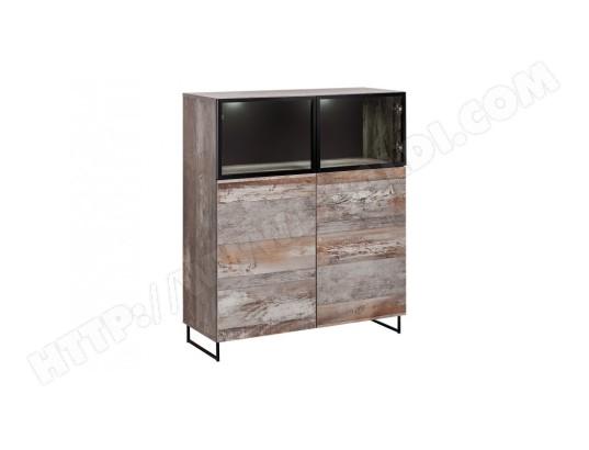 price factory vitrine basse kan led meuble deco type industriel design pour votre salon ma 76ca494vitr 3mq9n