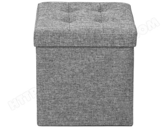 helloshop26 pouf coffre de rangement pliable tissu gris clair 1208015 ma 18ca92 pouf oh30t