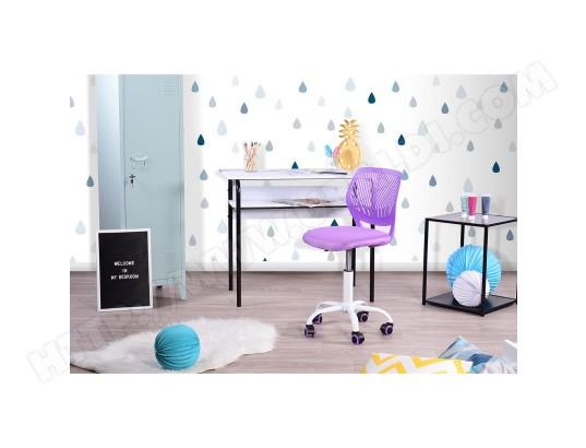 meuble express chaise de bureau enfant reglable roulettes violette ma 11ca549chai de5dz