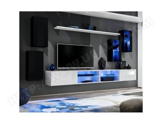 paris prix ensemble meuble tv design switch xxv 280cm noir blanc ma 12ca487ense guc64