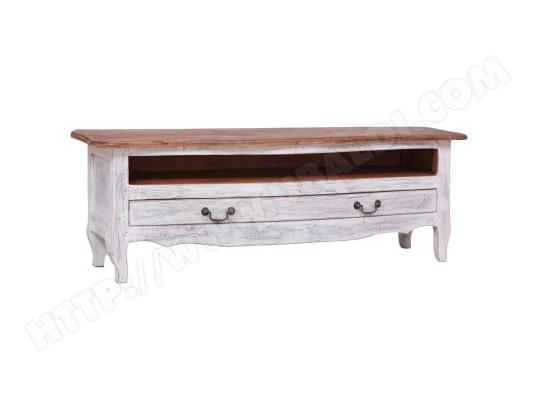 vidaxl vidaxl meuble tv 120 x 30 x 40 cm blanc bois de recuperation massif 283902