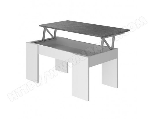 tbd swing table basse relevable blanc et gris l 50 cm ma 15ca182swin r2dri