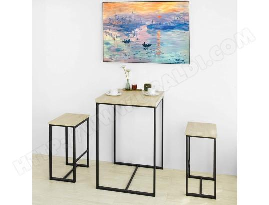 sobuy sobuy ogt31 n table haute avec 2 chaises pour salle a manger ma 10ca492sobu gnfmn