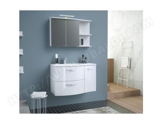 Onde Meuble De Salle De Bain Simple Vasque L 90cm Blanc Brillant Tbd Ma 15ca888onde Sppi0 Pas Cher Ubaldi Com